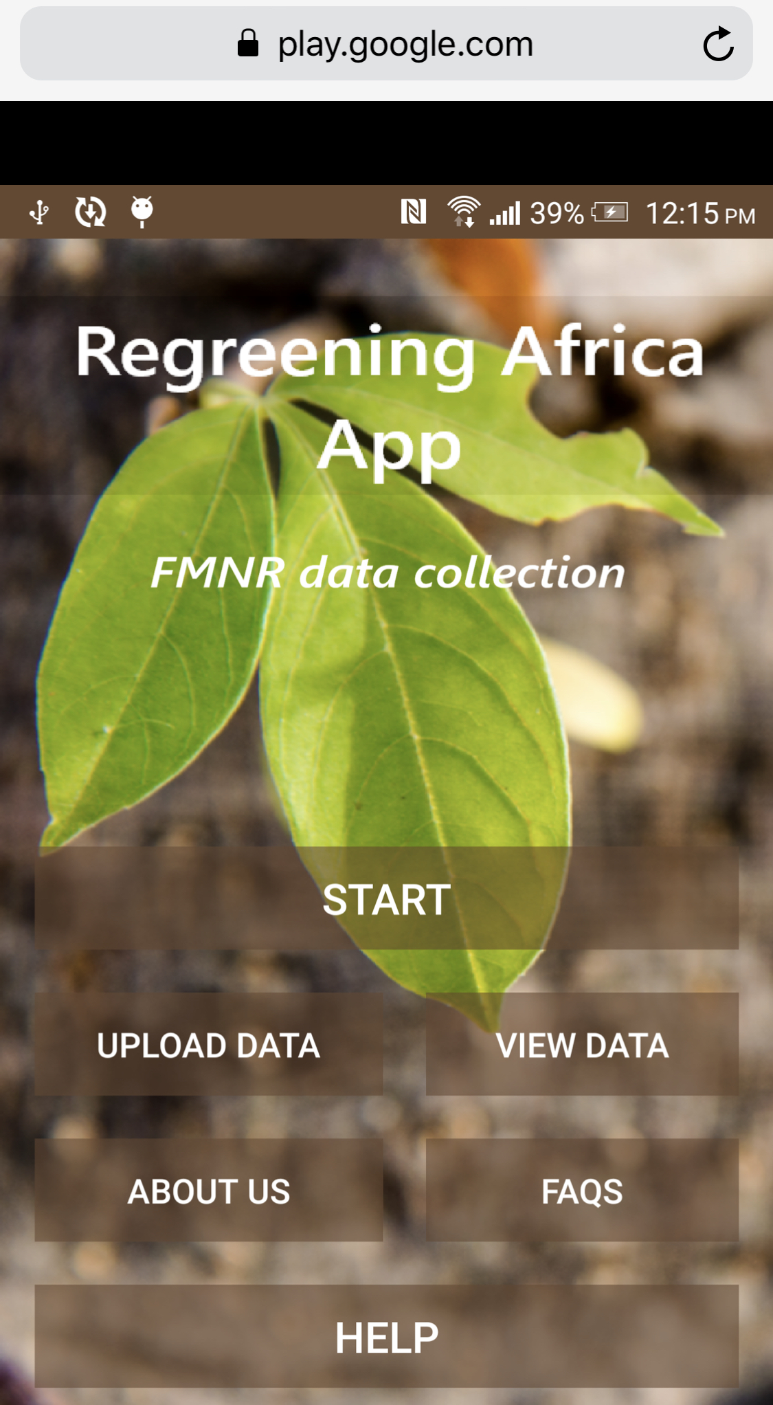 Beta version of Regreening Africa App